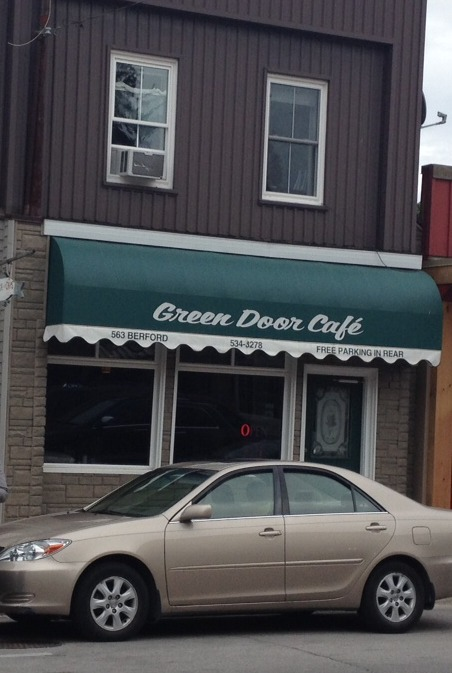 A Green Door with a Husband and Wife Team: Lunch in Wiarton